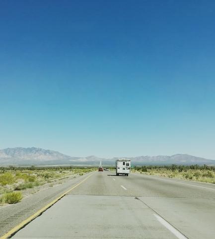 rv on open road